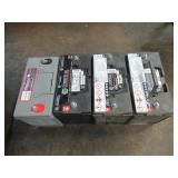 3 NAPA COMMERCIAL HIGH CYCLE / MAINTENANCE FREE 12 VOLT BATTERIES PART# 7238 AND 1 CENTENNIAL COMMER