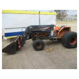KUBOTA L 4150 TRACTOR HAS SOME DAMAGE FROM TORNADO COME OUT AND PREVIEW! BILL OF SALE ONLY NO TITLE!