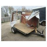 PACE AMERICAN TRAILER 5FT. X 8FT. DEMOLISHED BY TORNADO BUT FRAME CAN BE SALVAGED! BILL OF SALE ONLY