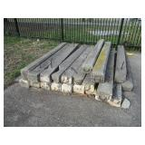 "20 CONCRETE WHEEL STOPS FOR PARKING LOT 96"" X 8 1/2"" X 6"""