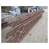 STEEL TRESTLES IN DIFFERENT SIZES 10 SECTIONS APPROX. 40FT., 4 SECTIONS APPROX. 19FT. AND 3 SECTIONS