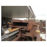 "STEEL I-BEAMS APPROX. 240"" X 18"" X 6"" SIZES MAY VARY BUT PRETTY CLOSE TO THE SAME SIZES"