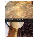 Marble top/iron side table