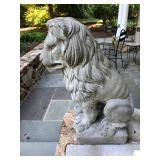 Concrete guardian lion statues