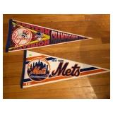 Yankees & Mets pennants