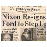 Nixon resigns newspaper