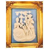 VINTAGE ALT MEISSEN ART BY DRESDEN SCENE FROM THE CASTLE-PARK OF SANSSOUCI
