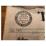 100th anniversary The Mountaineer Newspaper