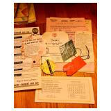 Paperwork for Silvertone phonograph