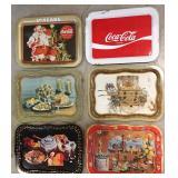 Coca Cola Metal Serving Trays