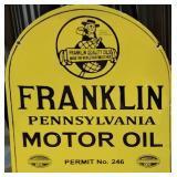 Franklin Motor Oil Porcelain Sign