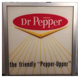 Dr. Pepper Glass Front Sign