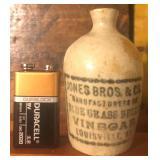 Miniture Vinegar Advertising Jug