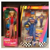 Barbie Dolls Nascar Coke