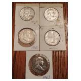 Franklin Silver Half Dollars