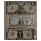 Paper Currency Silver Certificates Money