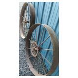 Antique Farm Wagon Wheels - Tools