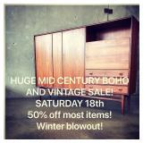 Giant Mid Century boho vintage super sale!