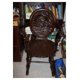 VINTAGE CHAIR WITH CARVED BACK