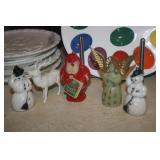 VINTAGE CHRISTMAS ORNAMENTS ~ AT CHECK OUT TABLE