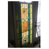 STAIN GLASS WINDOW 34 X 68