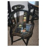 ASIAN MOTHER OF PEARL TABLE + 4 CHAIRS PURCHASED IN SAN FRANCISCO
