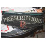 VINTAGE PRESCRIPTION SIGN