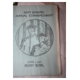 1938 BERRY COMMENCEMENT PAMPLET