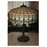 VINTAGE SLAG TABLE LAMP