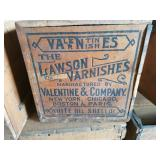 VINTAGE WOOD ADVERTISING BOXE