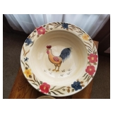 LARGE ROOSTER BOWL