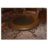 HEAVY WROUGHT IRON COFFEE TABLE