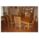 DINING SET WITH 6 CHAIRS , 2 LEAVES AND PADS