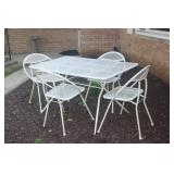 FUN FUNKY VINTAGE FOLDING PATIO SET