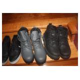 SZ 10 MENS BOOTS ~ GREY FILA . BLACK SKETCHERS ~ BRAND NEW