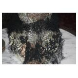 HANDMADE LACE SCARF ~ MOURNING ?