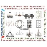LIGHT BUYS HIGH END RESIDENTIONAL LIGHTING AUCTION