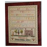 Vintage Hand Embroidery Sampler by Francis Colvin
