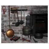 Hammer/Ax Multi Tool, Cast Iron 11 Cup Muffin Pan, Stanley Defiance Hand Drill, Hand Forged Hearth T