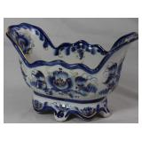"Wekma Russia Blue and White Porcelain Console Bowl  (9""W x 5.5""H x 5""D)"
