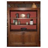 American Antique Very Large 4-Door Cupboard. Wood Peg & Mortise and Tenon jointed Doors.  (Doors we'