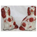 Reproduction Staffordshire Style Spaniel Dog Figurine