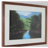 "Mountain/Landscape Framed print 21 1/2"" x 17 1/2"""