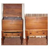 """Antique 19th Century Cherry Wood Sugar Chest With One Drawer (25 1/2""""W x 18""""D x 33""""H)"""
