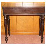 """Antique solid mahogany spinet writing desk  (34""""W x 19""""D x 31""""H)"""