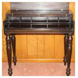 """Antique solid mahogany spinet writing desk (shown open) (34"""" W x 19""""D x 31""""H)"""