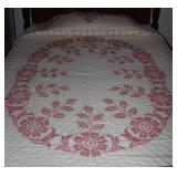 Handmade Quilted,  Embroidery Cross Stitch Double/Full Bedspread