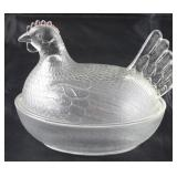 Indiana Glass Hen on Nest covered dish