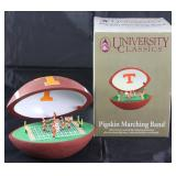 """University Classic """"University of Tennessee"""" Pigskin Marching Band fight song music box"""