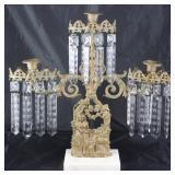 Antique Gilt Bronze  3 -Light Candelabra 1800